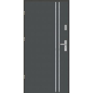 Drzwi wejściowe stalowe model EKO-NORM Płaskie AP1 inox