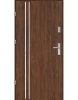 Drzwi wejściowe stalowe model EKO-NORM Płaskie AP2 inox