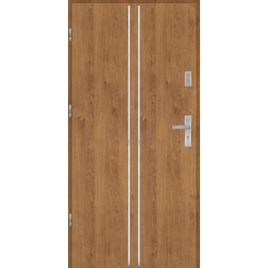 Drzwi wejściowe stalowe model EKO-NORM Płaskie AP3 inox