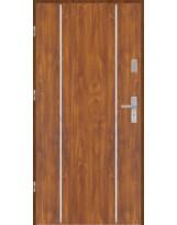 Drzwi wejściowe stalowe model EKO-NORM Płaskie AP4 inox