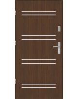 Drzwi wejściowe stalowe model EKO-NORM Płaskie AP6 inox