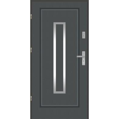 Drzwi wejściowe stalowe model EKO-NORM Finezja 13 inox pełne