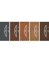 Drzwi wejściowe stalowe model EKO-NORM Finezja 5 inox pełne