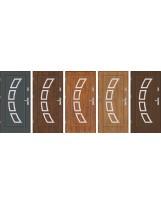 Drzwi wejściowe stalowe model EKO-NORM Finezja 3 inox pełne