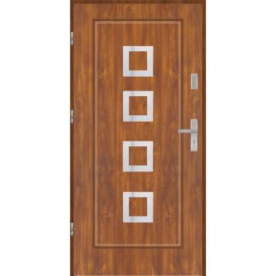 Drzwi wejściowe stalowe model EKO-NORM Finezja 15 inox pełne