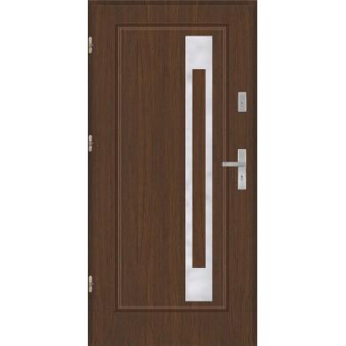 Drzwi wejściowe stalowe model EKO-NORM Finezja 23 inox pełne