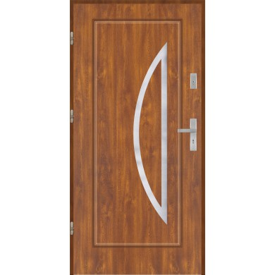 Drzwi wejściowe stalowe model EKO-NORM Finezja 27 inox pełne