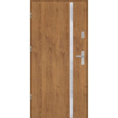 Drzwi wejściowe stalowe model EKO-NORM Płaskie AP9 inox