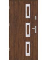 Drzwi wejściowe stalowe model EKO-NORM Płaskie 28 inox pełne
