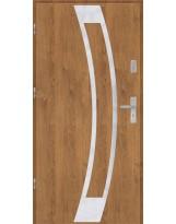 Drzwi wejściowe stalowe model EKO-NORM Płaskie 31 inox pełne