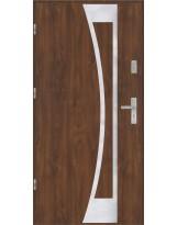 Drzwi wejściowe stalowe model EKO-NORM Płaskie 40 inox pełne