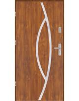 Drzwi wejściowe stalowe model EKO-NORM Płaskie 32 inox pełne