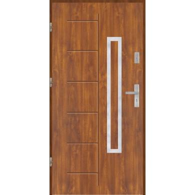 Drzwi wejściowe stalowe model EKO-NORM Gala 176 inox pełne