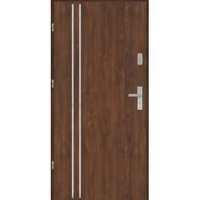 Drzwi wejściowe stalowe model PREMIUM płaskie AP2 inox