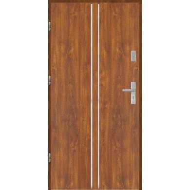 Drzwi wejściowe stalowe model PREMIUM płaskie AP3 inox