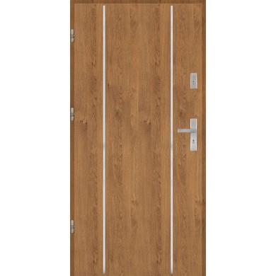 Drzwi wejściowe stalowe model PREMIUM płaskie AP4 inox