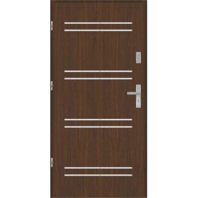 Drzwi wejściowe stalowe model PREMIUM płaskie AP6 inox
