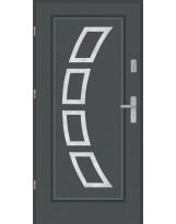 Drzwi wejściowe stalowe model PREMIUM Finezja 3 inox pełne