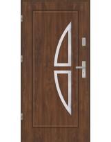 Drzwi wejściowe stalowe model PREMIUM Finezja 5 inox pełne
