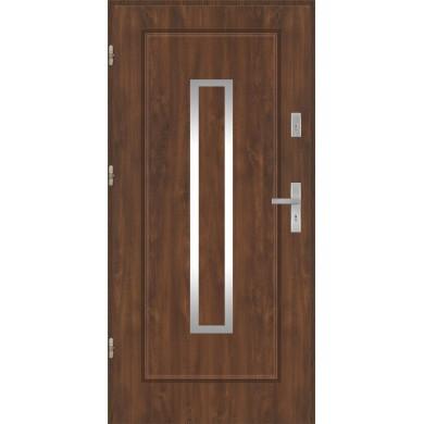 Drzwi wejściowe stalowe model PREMIUM Finezja 13 inox pełne