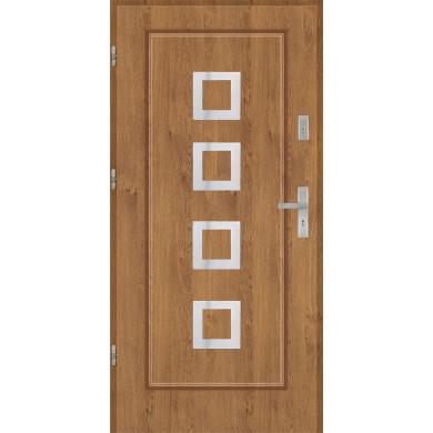 Drzwi wejściowe stalowe model PREMIUM Finezja 15 inox pełne