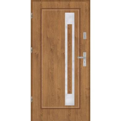 Drzwi wejściowe stalowe model PREMIUM Finezja 23 inox pełne