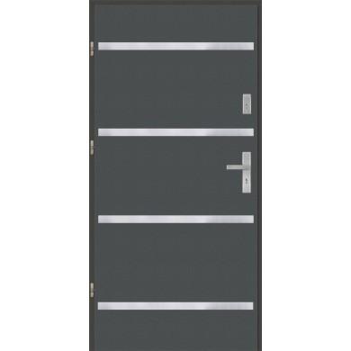 Drzwi wejściowe stalowe model PREMIUM płaskie AP8 inox