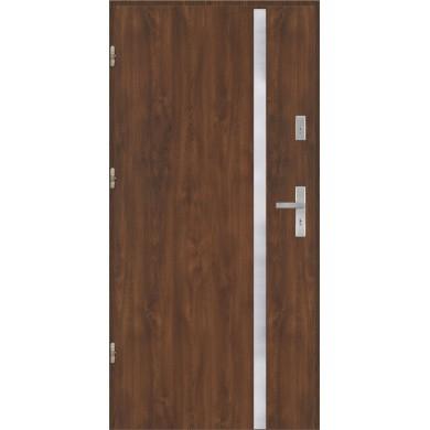 Drzwi wejściowe stalowe model PREMIUM płaskie AP9 inox