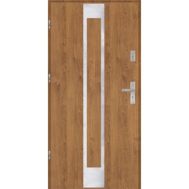 Drzwi wejściowe stalowe model PREMIUM płaskie 26 inox pełne