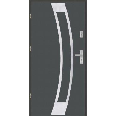 Drzwi wejściowe stalowe model PREMIUM płaskie 31 inox pełne