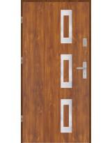 Drzwi wejściowe stalowe model PREMIUM płaskie 28 inox pełne