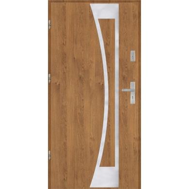 Drzwi wejściowe stalowe model PREMIUM płaskie 40 inox pełne