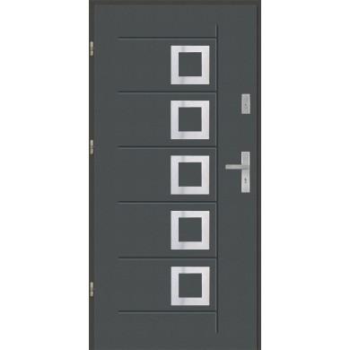 Drzwi wejściowe stalowe model PREMIUM Gala T 41 inox pełne