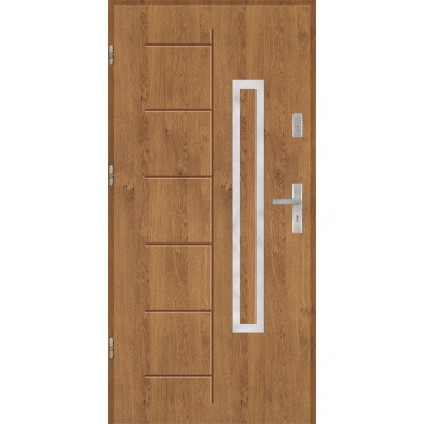 Drzwi wejściowe stalowe model PREMIUM Gala 176 inox pełne