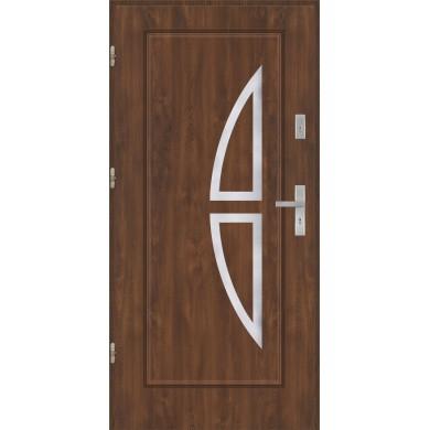 Drzwi wejściowe stalowe model PREMIUM PLUS Finezja 5 inox pełne