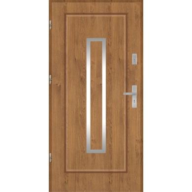 Drzwi wejściowe stalowe model PREMIUM PLUS Finezja 13 inox pełne