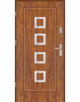 Drzwi wejściowe stalowe model PREMIUM PLUS FINEZJA 15 INOX PEŁNE