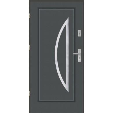 Drzwi wejściowe stalowe model PREMIUM PLUS Finezja 27 inox pełne