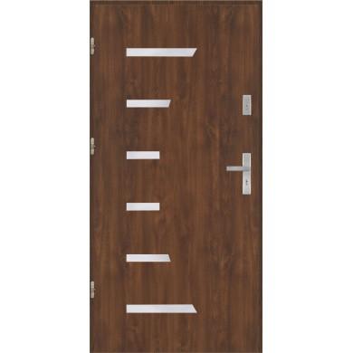 Drzwi wejściowe stalowe model PREMIUM PLUS Płaskie AP7 inox