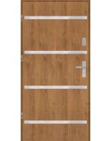 Drzwi wejściowe stalowe model PREMIUM PLUS Płaskie AP8 inox