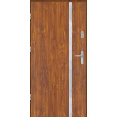 Drzwi wejściowe stalowe model PREMIUM PLUS Płaskie AP9 inox