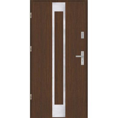 Drzwi wejściowe stalowe model PREMIUM PLUS Płaskie 26 inox pełne