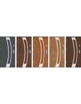 Drzwi wejściowe stalowe model PREMIUM PLUS Płaskie 31 inox pełne