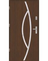 Drzwi wejściowe stalowe model PREMIUM PLUS Płaskie 32 inox pełne