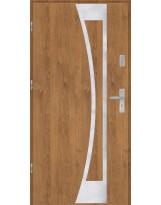 Drzwi wejściowe stalowe model PREMIUM PLUS Płaskie 40 inox pełne