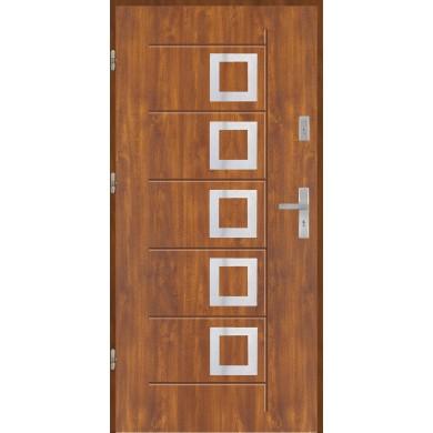 Drzwi wejściowe stalowe model PREMIUM PLUS Gala T 41 inox Pełne