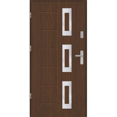 Drzwi wejściowe stalowe model PREMIUM PLUS Gala 128 inox Pełne