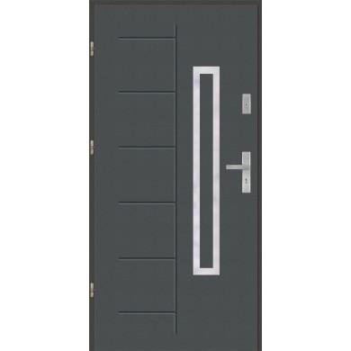 Drzwi wejściowe stalowe model PREMIUM PLUS Gala 176 inox Pełne