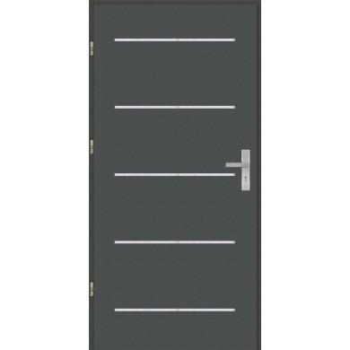 Drzwi wejściowe stalowe model OPTITERM Płaskie AP5