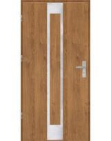 Drzwi wejściowe stalowe model OPTITERM Płaskie 26 inox pełne